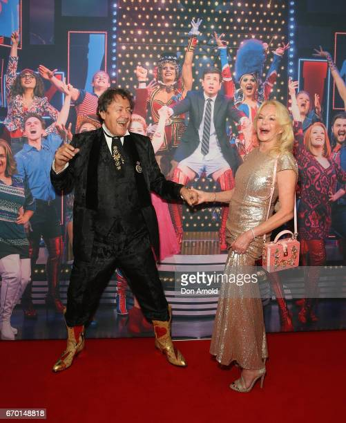 Charles Billich and Christa Billich arrive for the opening night of Cyndi Lauper's Kinky Boots at Capitol Theatre on April 19 2017 in Sydney Australia