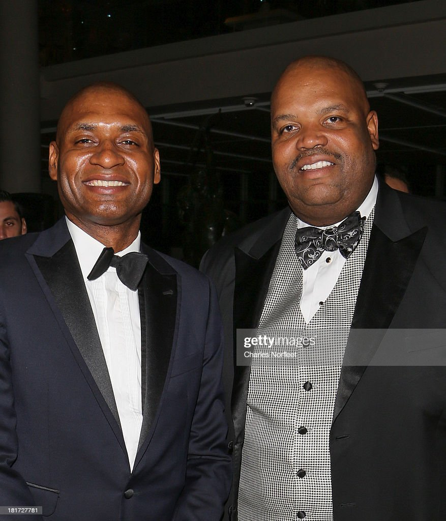 Charles Blow (L) and Reginald Brown attend 2013 Multicultural Gala: An Evening Of Many Cultures at Metropolitan Museum of Art on September 23, 2013 in New York City.