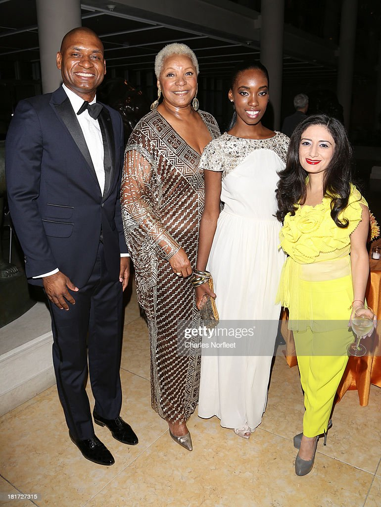 Charles Blow, Audrey Smaltz, Nefatari Cooper and Lidia Amirova attend 2013 Multicultural Gala: An Evening Of Many Cultures at Metropolitan Museum of Art on September 23, 2013 in New York City.