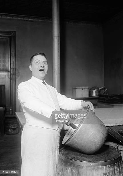 Charles Boccia a baker who after 35 years of baking attempted a singing career sings while mixing batter in a large bowl