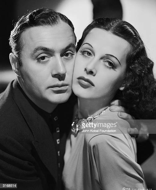 Charles Boyer as Pepe le Moko cheek to cheek with Hedy Lamarr as Gaby in a scene from 'Algiers' directed by John Cromwell