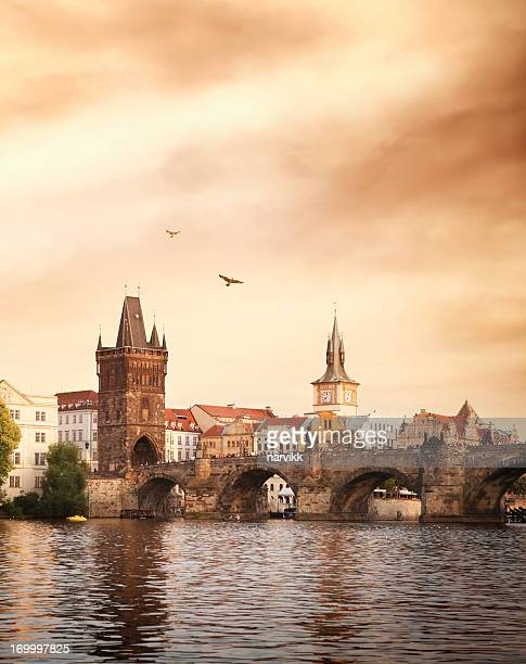 Charles bridge and Vltava river in Prague