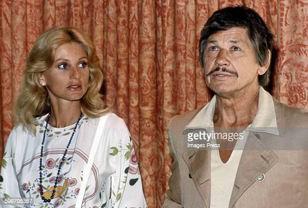 Charles Bronson and Jill Ireland circa 1981 in Los Angeles California