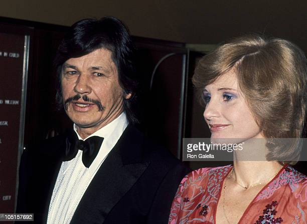 Charles Bronson and Jill Ireland during 'Man of La Mancha' Premiere in Los Angeles March 8 1978 at Pantages Theater in Los Angeles California United...