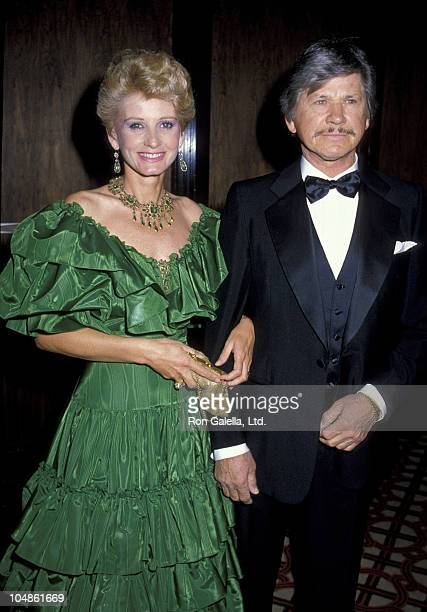 Charles Bronson Jill Ireland during Crystal Ball Benefit for St John's Hospital Health at Century Plaza Hotel in Los Angeles California United States