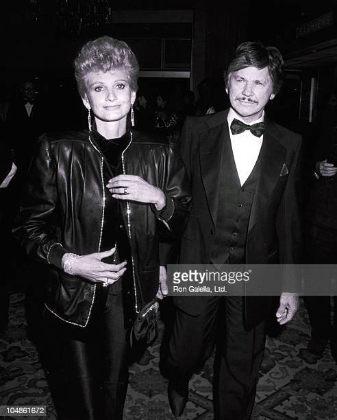 Charles Bronson Wife during 75th Birthday Party for Milton Berle Hosted by the Friars at The Beverly Hilton Hotel in Beverly Hills California United...