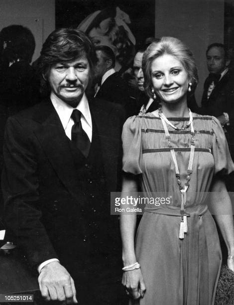 Charles Bronson Wife during 'Robin and Marian' New York City Premiere at Academy of Motion Picture Arts and Sciences in New York City New York United...