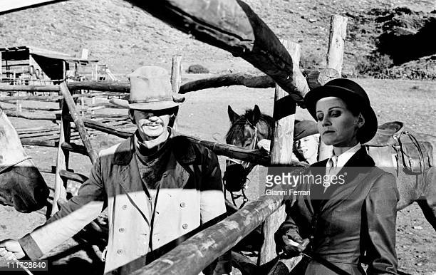 Charles Bronson y Jill Ireland during the filming of the movie 'Wild Horses' directors John Sturges and Duilio Coletti First December 1972 Almeria...