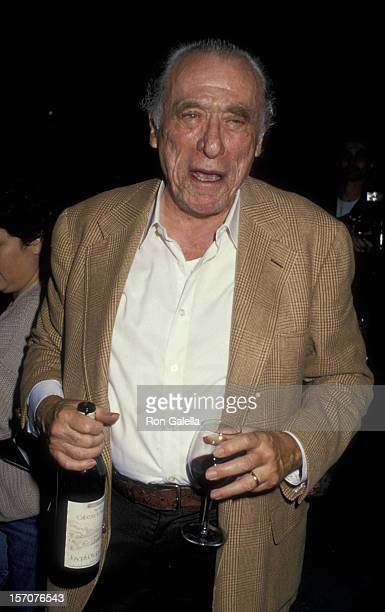 Charles Bukowski attends the screening of 'Barfly' on November 4 1987 at the Cineplex Odeon Cinema in Century City California