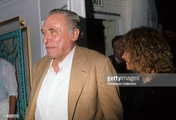 Charles Bukowski poses for a portrait November 1987 in Los Angeles California
