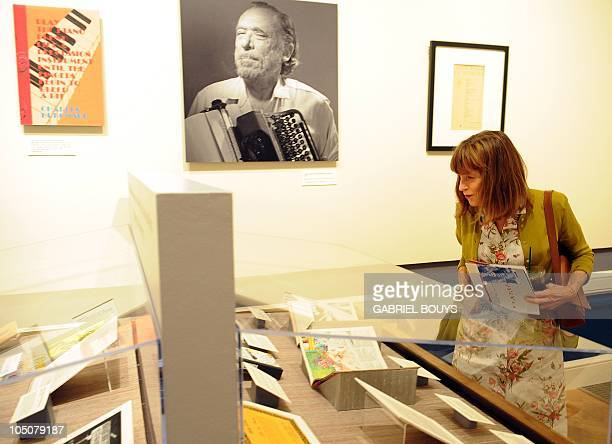 Charles Bukowski's widow Linda Lee Bukowski attends the media preview of the exhibition 'Charles Bukowski poet on the edge' at the Huntington Library...