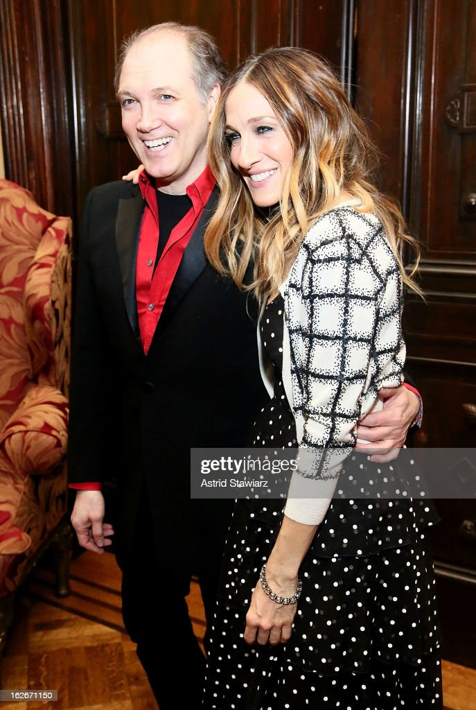 Charles Busch and Sarah Jessica Parker attend the 10th Annual Love 'N' Courage Benefit For TNC's Emerging Playwrights Program at The National Arts Club on February 25, 2013 in New York City.