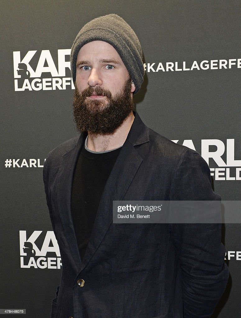 Charles Cave of The White Lies attends the Karl Lagerfeld European flagship store launch on March 13 2014 in London England