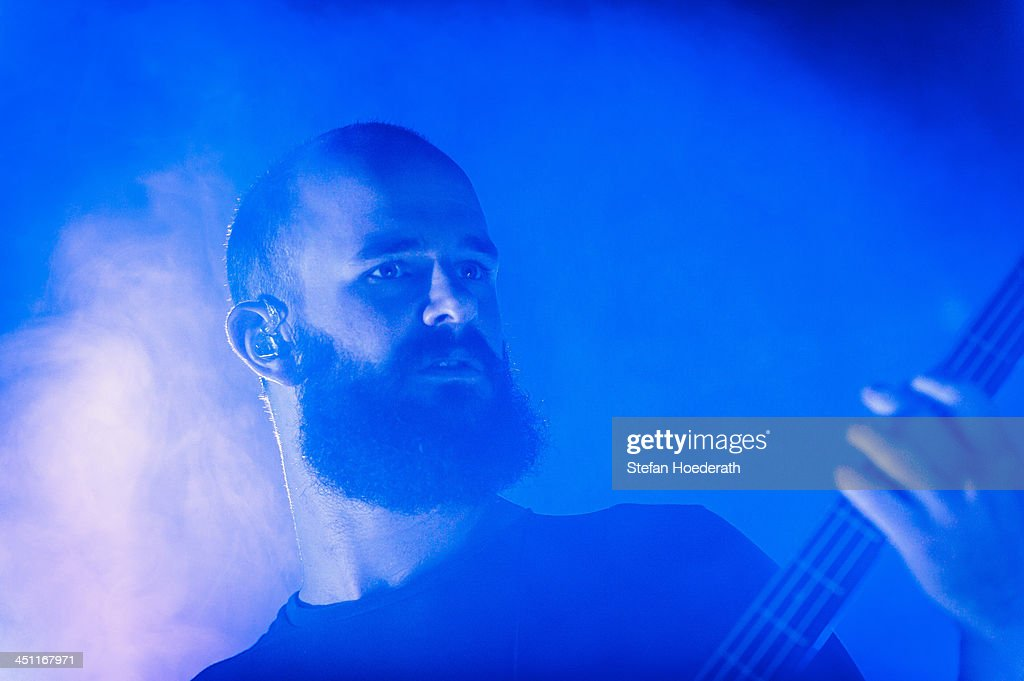 Charles Cave of White Lies performs live during a concert at Kesselhaus on November 21 2013 in Berlin Germany