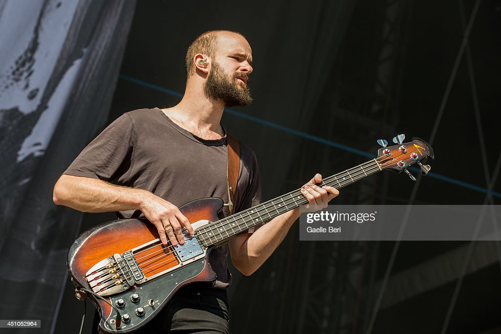 Charles Cave of White Lies performs on stage at Hurricane Festival on June 22 2014 in Scheessel Germany