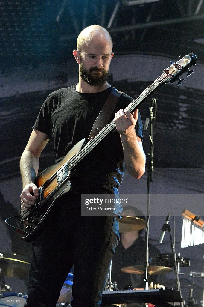 Charles Cave of White Lies performs on stage at Pinkpop 2014 on June 7 2014 in Landgraaf Netherlands