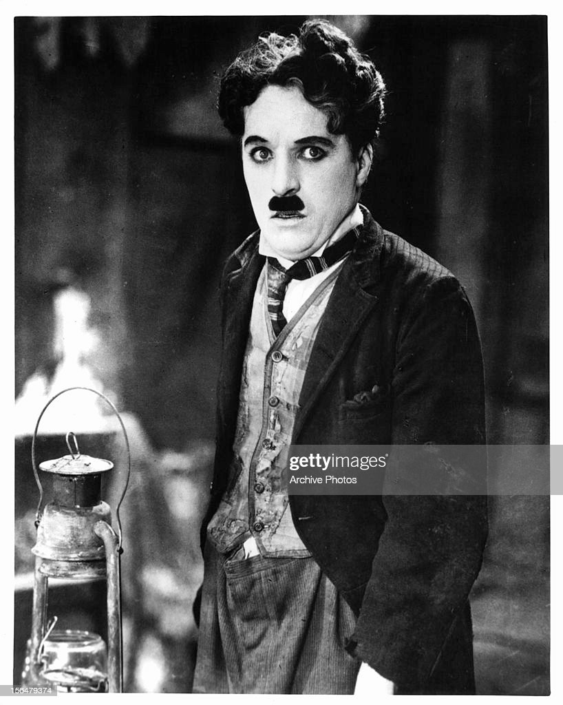 Charles Chaplin in a scene from the film 'The Gold Rush', 1925.