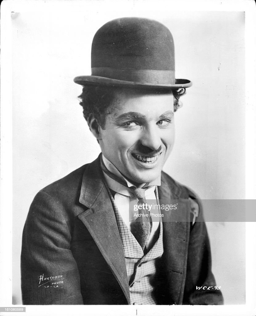Charles Chaplin publicity portrait for the short 'A Night Out', 1915.