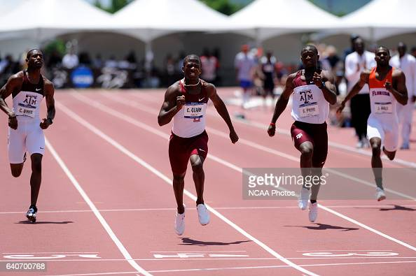 Charles Clark of Florida State University competes in the 200 meter dash during the Division I Men's Outdoor Track and Field Championship held at...