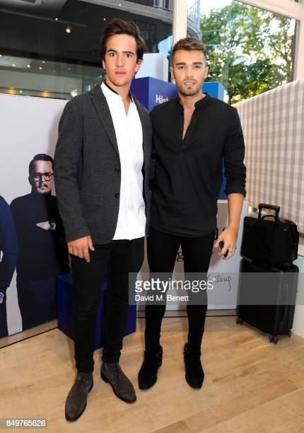 Charles Cooney and Josh Cuthbert attend the launch party for Hastens Appaloosa The Marwari Beds at the Hastens Chelsea Showroom on September 19 2017...
