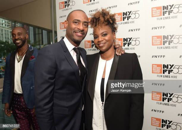 Charles D King and Director Dee Rees attends the 55th New York Film Festival screening of 'Mudbound' at Alice Tully Hall in New York on October 12...
