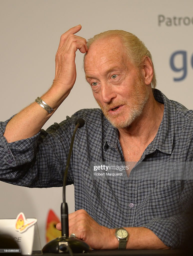 <a gi-track='captionPersonalityLinkClicked' href=/galleries/search?phrase=Charles+Dance&family=editorial&specificpeople=206817 ng-click='$event.stopPropagation()'>Charles Dance</a> attends a press conference for his latest film 'Patrick' at the 46th Sitges Film Festival on October 11, 2013 in Sitges, Spain.