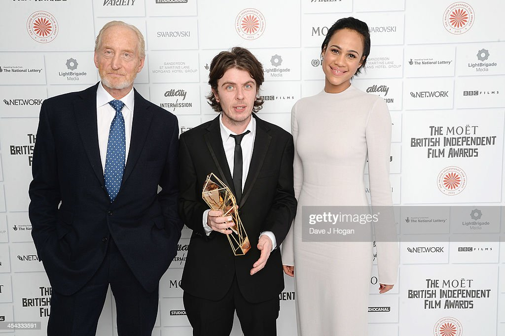 Charles Dance, Paul Wright Winner of the Douglas Hickox Award and Zawe Ashton attends the Moet British Independent Film Awards 2013 at Old Billingsgate Market on December 8, 2013 in London, England.