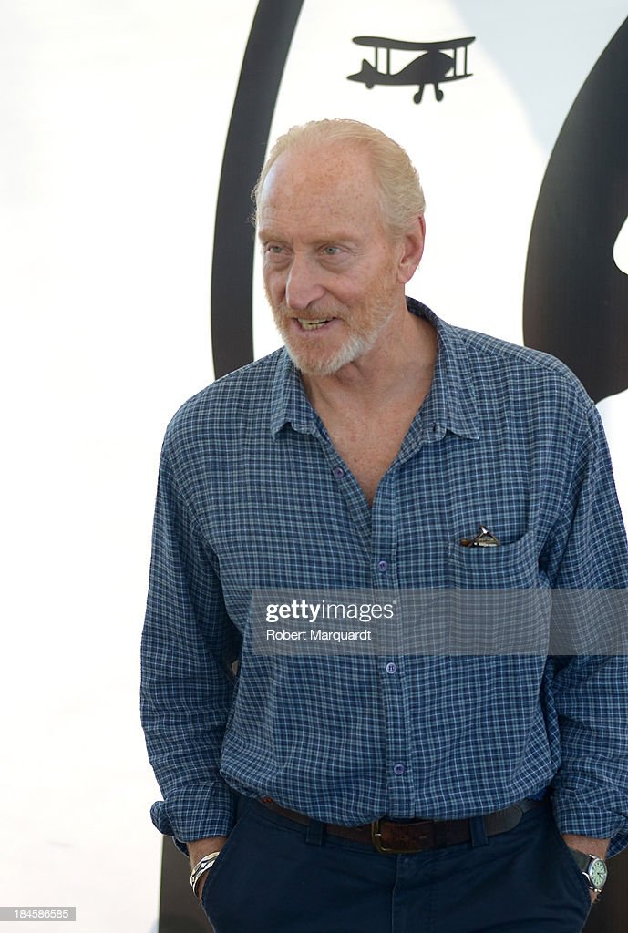 <a gi-track='captionPersonalityLinkClicked' href=/galleries/search?phrase=Charles+Dance&family=editorial&specificpeople=206817 ng-click='$event.stopPropagation()'>Charles Dance</a> poses for the press while presenting his latest film 'Patrick' at the 46th Sitges Film Festival on October 11, 2013 in Sitges, Spain.