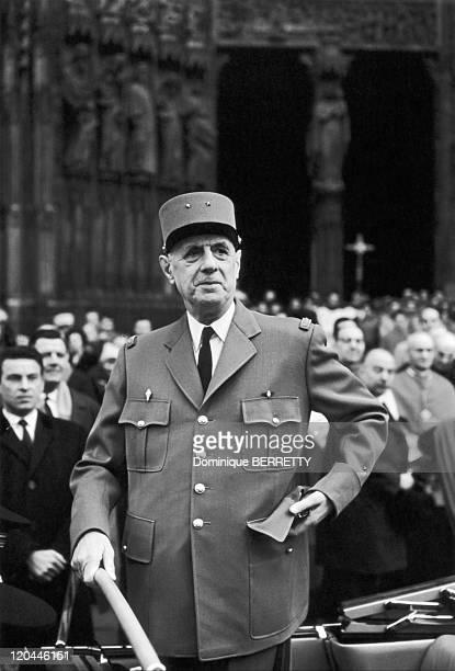 Charles De Gaulle In Strasbourg France In 1965