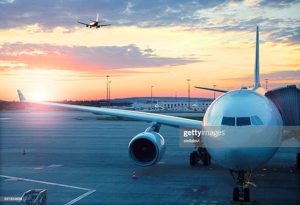 Charles De Gaulle International Airport in Paris : Stock Photo