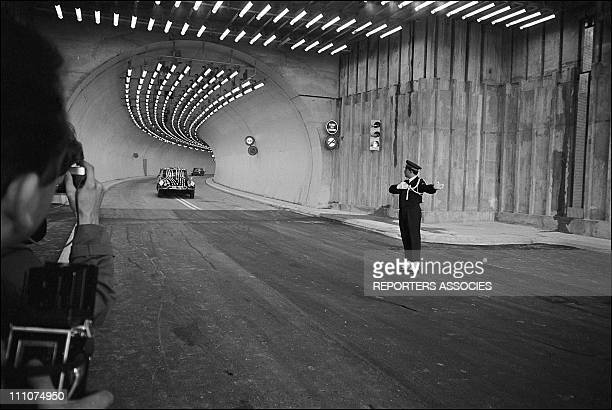 Charles De Gaulle opens Tunnel Mont Blanc in France on July 16th 1965