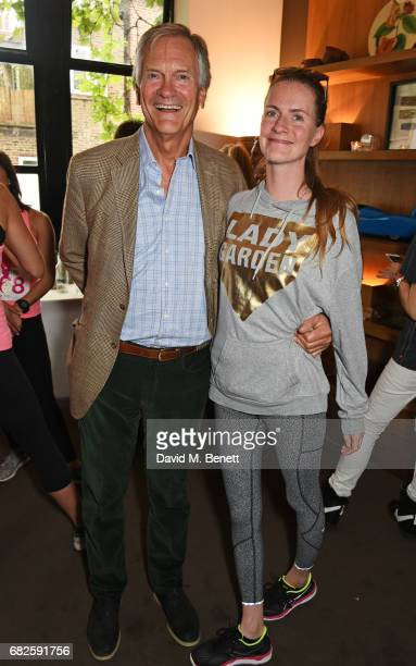 Charles Delevingne and Chloe Delevingne attend the Lady Garden brunch following the 5K 10K Fun Run in aid of Silent No More Gynaecological Cancer...