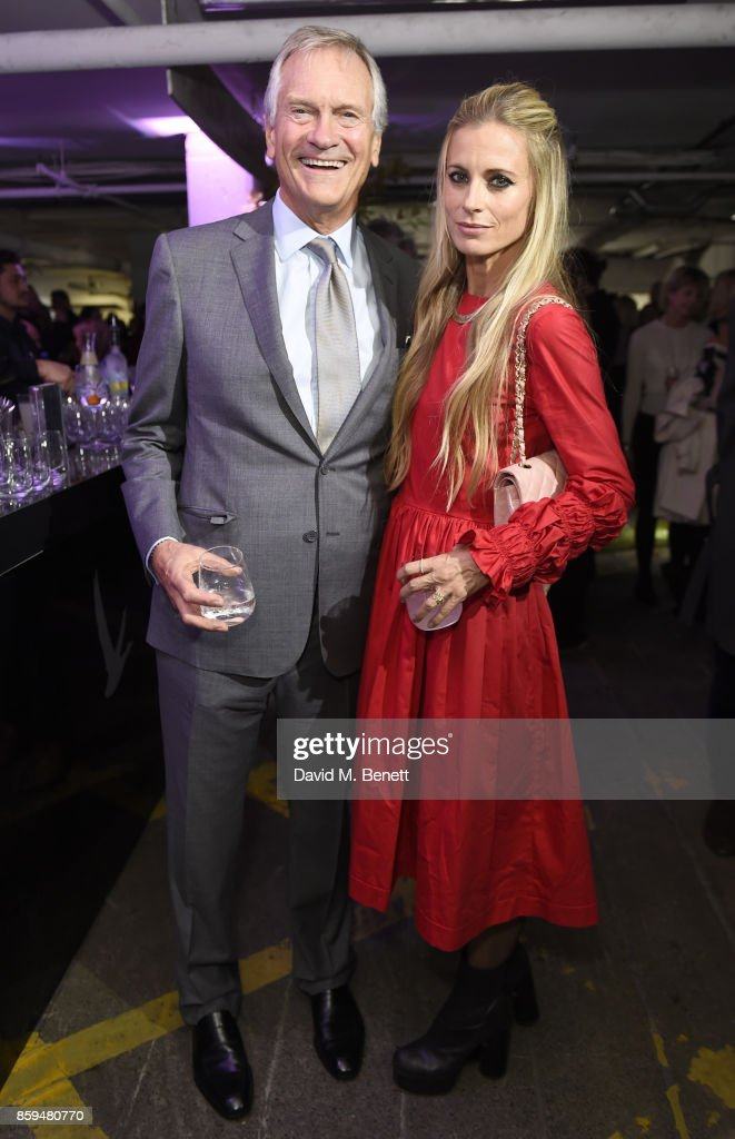 Charles Delevingne (L) and Laura Bailey attend the Conde Nast Traveller 20th anniversary party at Vogue House on October 9, 2017 in London, England.