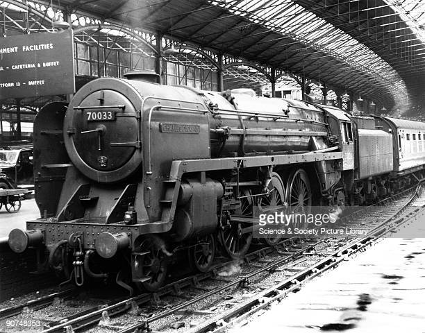 Charles Dickens' No 70033 Euston Station London c 1958 The British Railway's Britannia class 462 has arrived at Euston with an express from Manchester