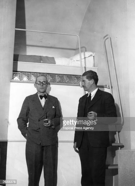 Charles Edouard Jeanneret Swissborn French architect left in the ultra modern flat of Mr Wells Cortes He was nicknamed 'Le Corbusier' and maintained...