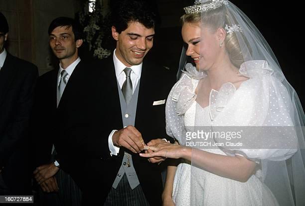 Charles Emmanuel De Bourbonparme Marries Constance De Ravinel Yvelines 26 Mai 1991 Au château de Dampierre lors de leur mariage CharlesEmmanuel DE...