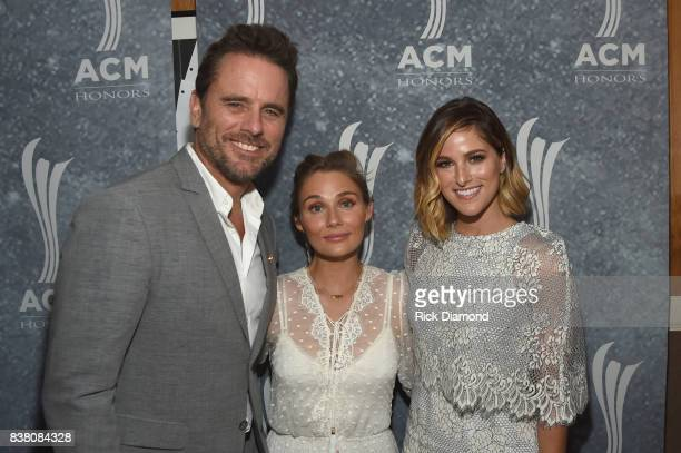 Charles Esten Clare Bowen and Cassadee Pope attend the 11th Annual ACM Honors at the Ryman Auditorium on August 23 2017 in Nashville Tennessee