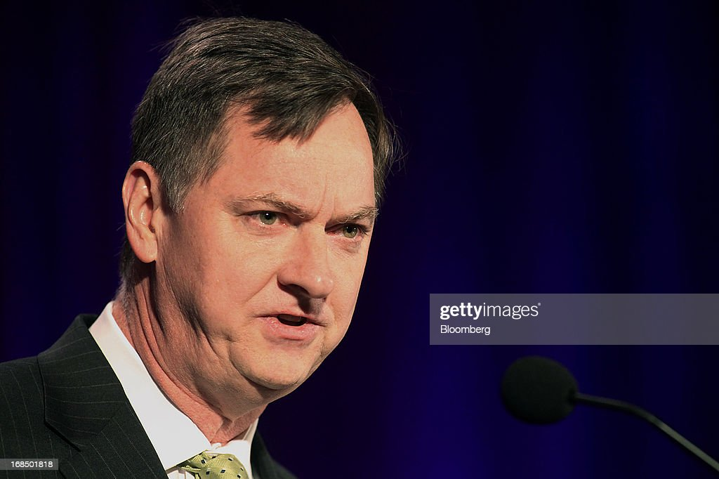 Charles Evans, president and chief executive officer of the Federal Reserve Bank of Chicago, speaks during the 49th Annual Conference on Bank Structure and Competition in Chicago, Illinois, U.S., on Friday, May 10, 2013. Federal Reserve Chairman Ben S. Bernanke said risks persist in wholesale funding markets used frequently by Wall Street brokers to finance securities trading. Photographer: Tim Boyle/Bloomberg via Getty Images