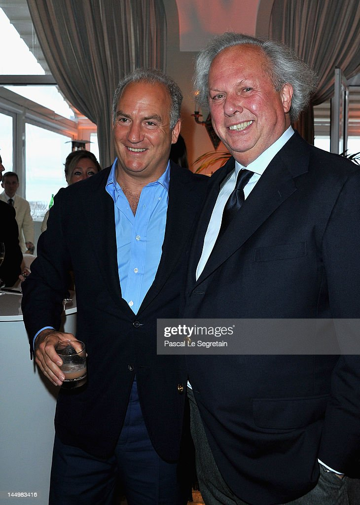 Charles Finch and Editor of Vanity Fair Graydon Carter attend the exclusive Filmmakers Dinner during the Cannes International Film Festival hosted by Swiss watch manufacturer IWC Schaffhausen in partnership with Finch's Quarterly Review at the famous Hotel du Cap-Eden-Roc on May 21, 2012 in Cap d'Antibes, France.