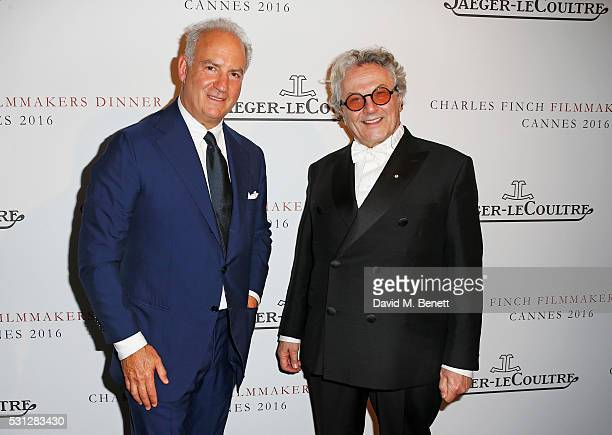 Charles Finch and George Miller attend The 8th Annual Filmmakers Dinner hosted by Charles Finch and JaegerLeCoultre at Hotel du CapEden Roc on May 13...