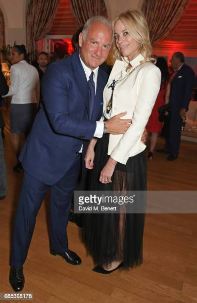 Charles Finch and Kate Driver attend The 9th Annual Filmmakers Dinner hosted by Charles Finch and JaegerLeCoultre at Hotel du CapEdenRoc on May 19...
