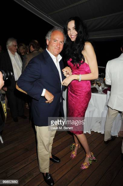 Charles Finch and L'Wren Scott attends Finch's Quarterly Cannes Dinner 2010 at the Hotel du Cap as part of the 63rd Cannes Film Festival on May 17...