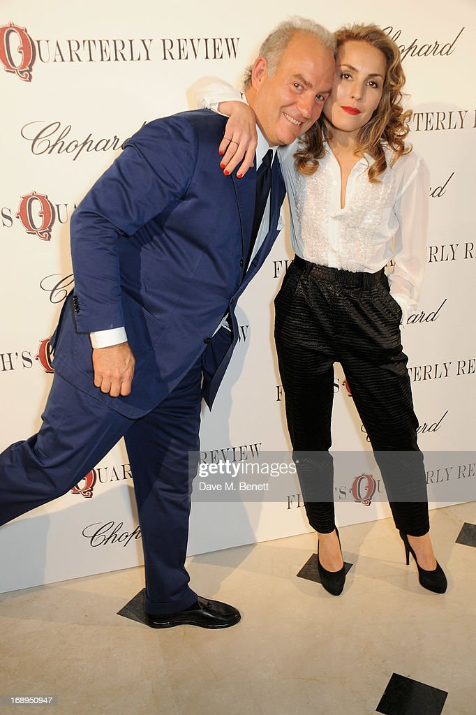 Charles Finch (L) and Noomi Rapace attend the annual Finch's Quarterly Review Filmmakers Dinner hosted by Charles Finch, Caroline Scheufele and Nick Foulkes at Hotel Du Cap Eden Roc on May 17, 2013 in Antibes, France.