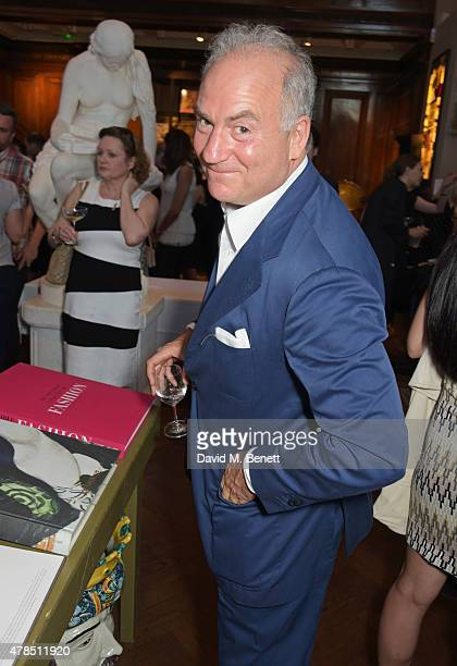 Charles Finch attends as Charles Finch Efe Cakarel Hikari Yokoyama celebrate new film platform MUBI at Maison Assouline on June 25 2015 in London...