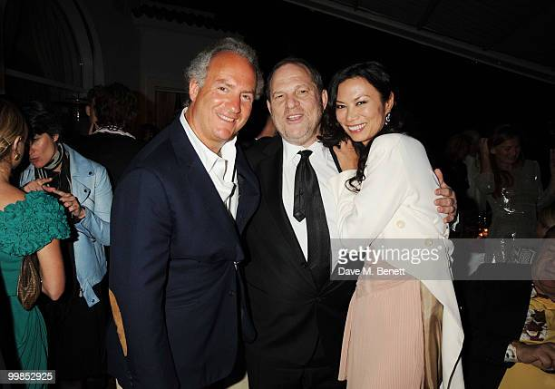 Charles Finch Harvey Weinstein and Wendi Murdoch attend Finch's Quarterly Cannes Dinner 2010 at the Hotel du Cap as part of the 63rd Cannes Film...