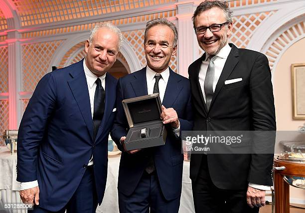 Charles Finch Nick Broomfield and Laurent Vinay attend as Charles Finch hosts the 8th Annual Filmmakers Dinner with JaegerLeCoultre at Hotel du...
