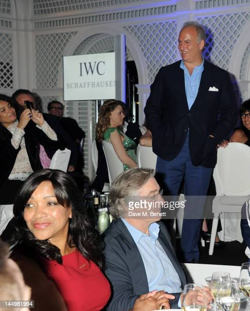 Charles Finch presents as Grace Hightower and Robert De Niro attend the IWC and Finch's Quarterly Review Annual Filmmakers Dinner at Hotel Du CapEden...