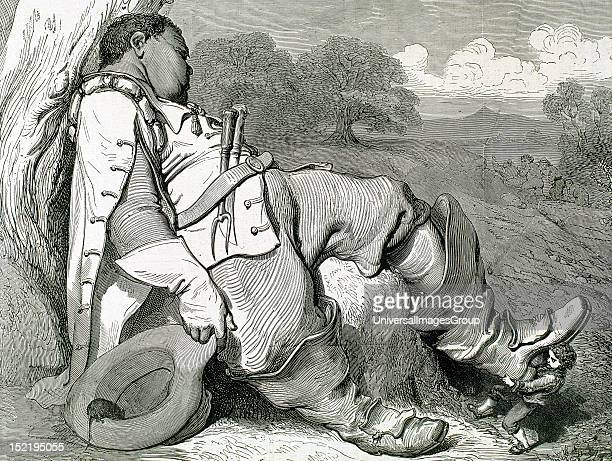 PERRAULT Charles French writer Hop O' My Thumb came the ogre and boots him out carefully Gustave Dore engraving