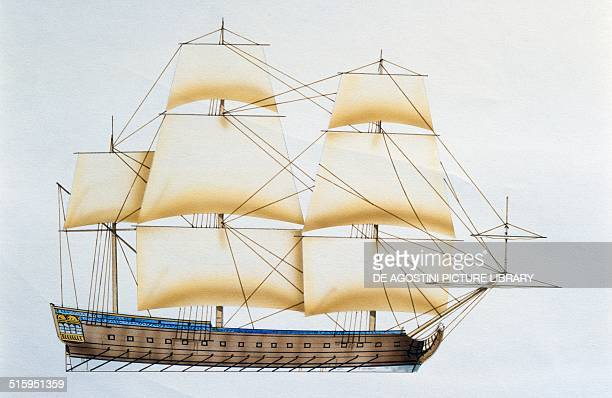 Charles frigate France drawing
