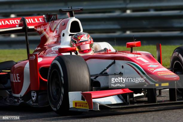 Charles from Monaco of Prema Racing during the FIA Formula 2 championship at Circuit de SpaFrancorchamps on August 27 2017 in Spa Belgium